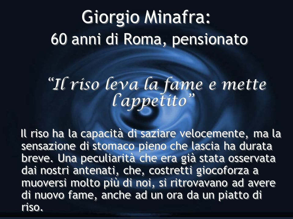 Giorgio Minafra: 60 anni di Roma, pensionato