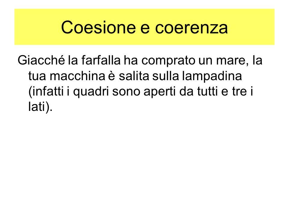 Coesione e coerenza