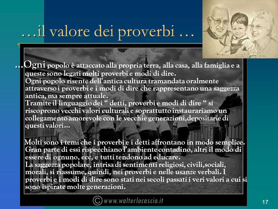 …il valore dei proverbi …