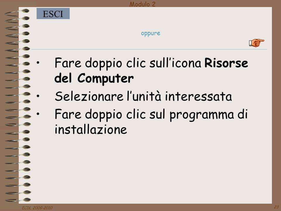 Fare doppio clic sull'icona Risorse del Computer