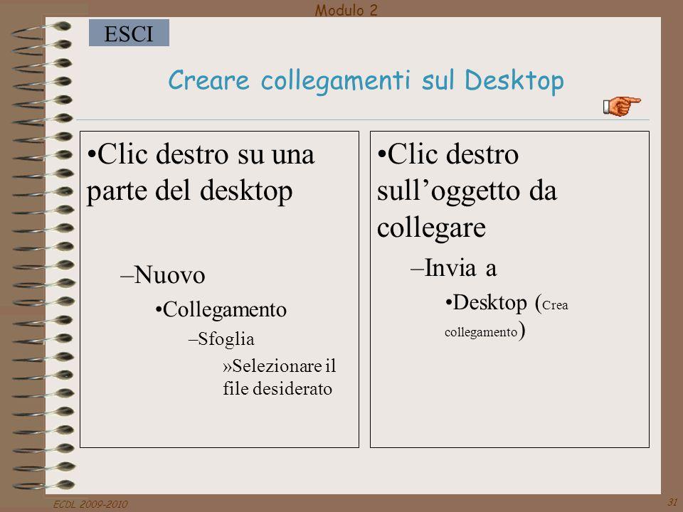 Creare collegamenti sul Desktop