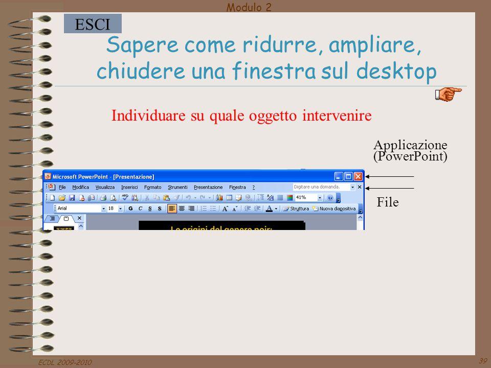 Sapere come ridurre, ampliare, chiudere una finestra sul desktop
