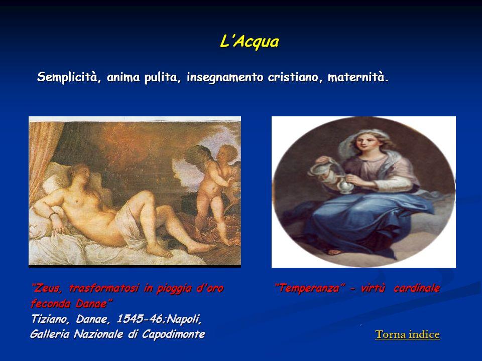L'Acqua Semplicità, anima pulita, insegnamento cristiano, maternità.