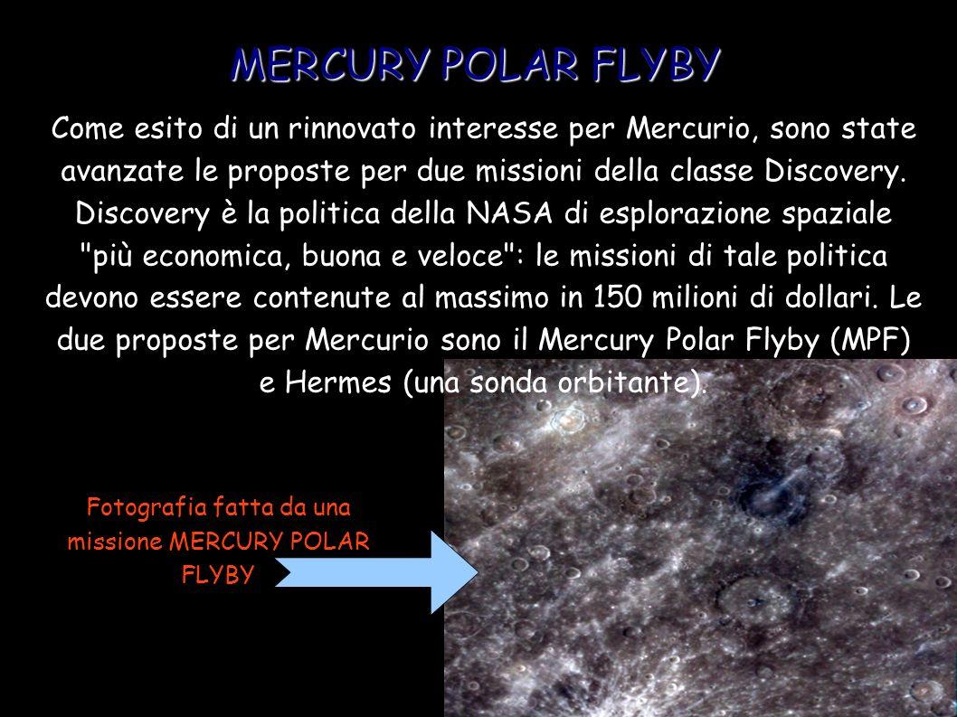 Fotografia fatta da una missione MERCURY POLAR FLYBY