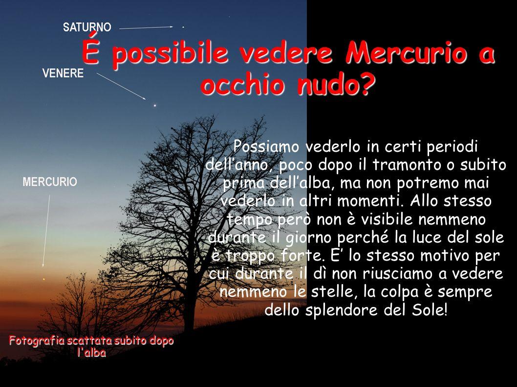 É possibile vedere Mercurio a occhio nudo