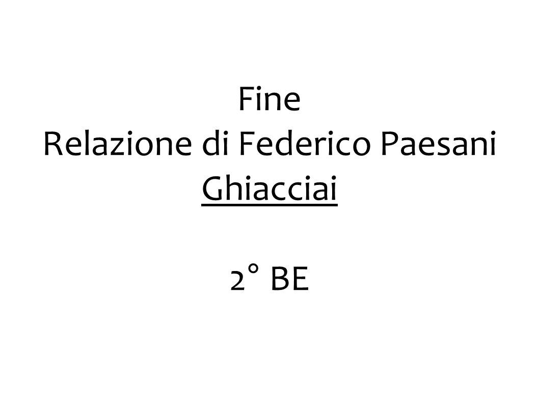 Relazione di Federico Paesani
