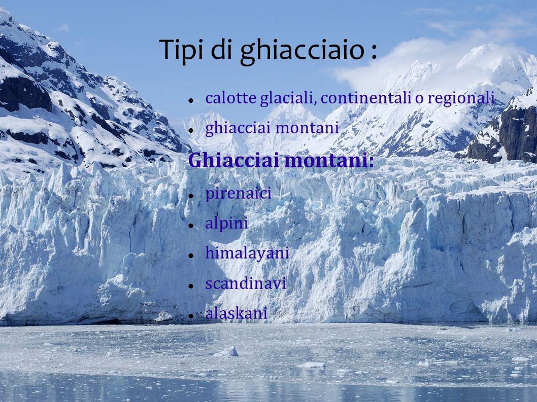 Tipi di ghiacciaio : Ghiacciai montani: