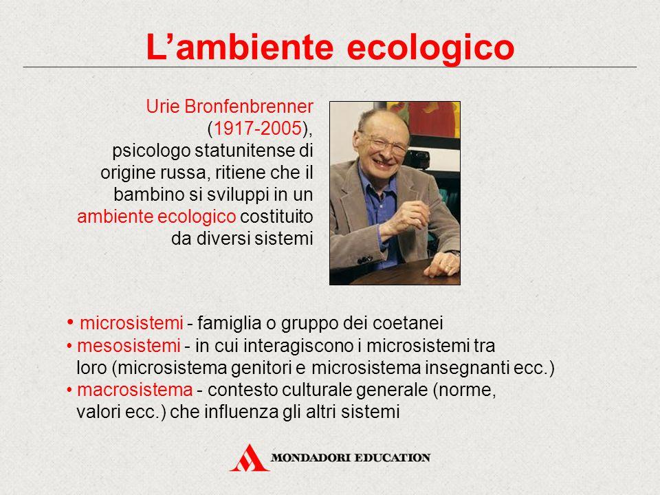 L'ambiente ecologico microsistemi - famiglia o gruppo dei coetanei