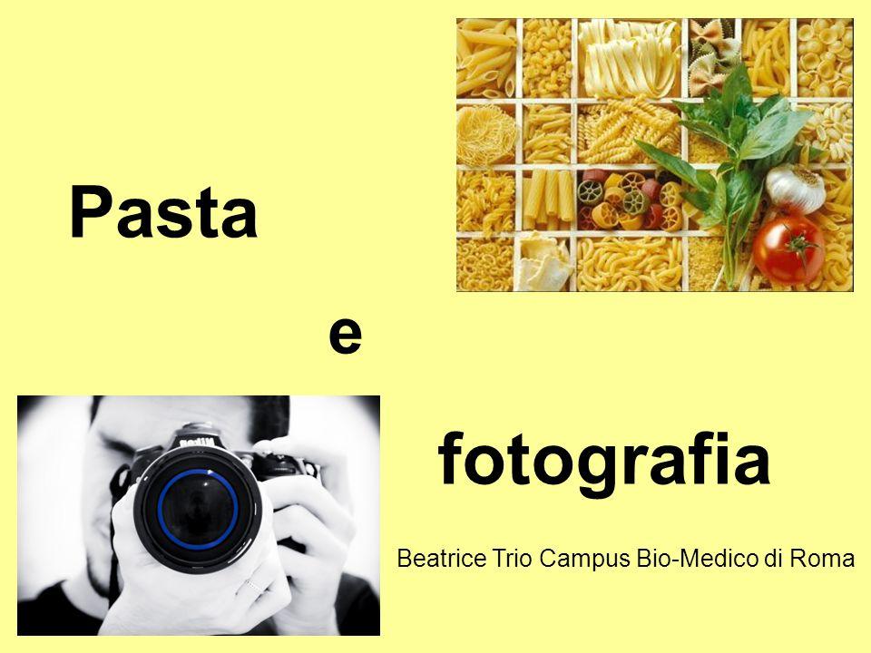 Pasta e fotografia Beatrice Trio Campus Bio-Medico di Roma