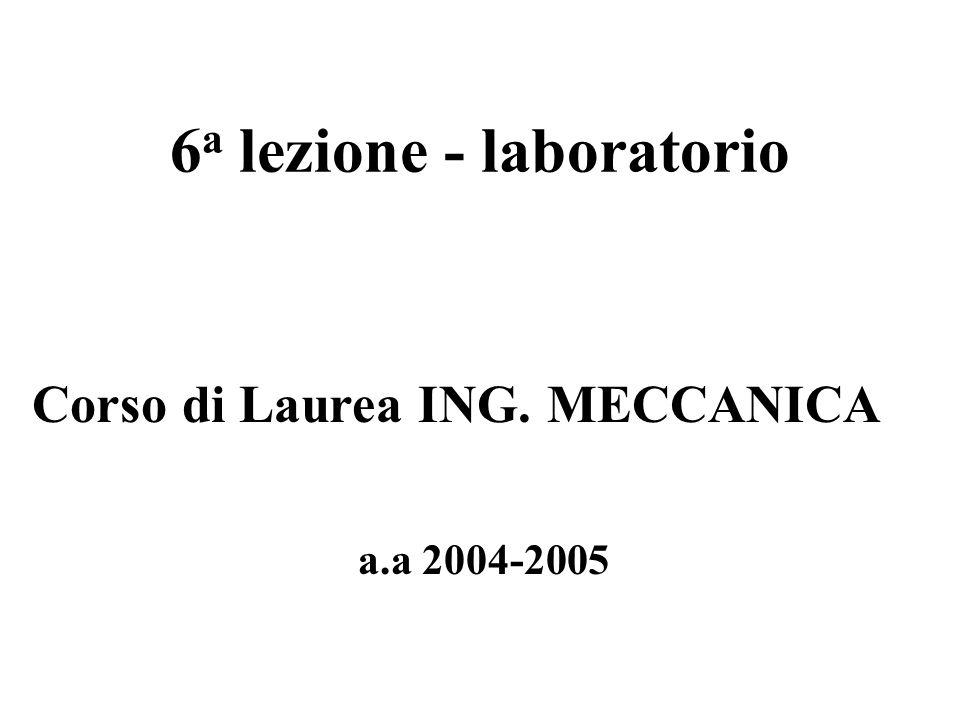 6a lezione - laboratorio
