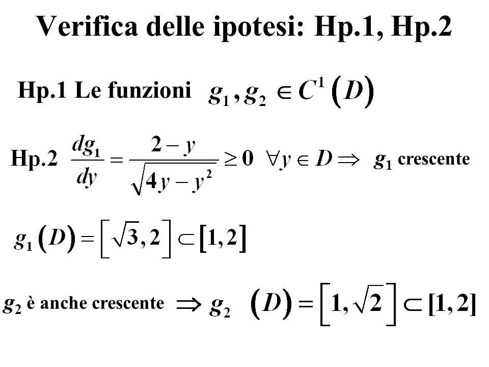 Verifica delle ipotesi: Hp.1, Hp.2