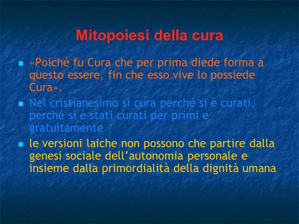 Mitopoiesi della cura «Poiché fu Cura che per prima diede forma a questo essere, fin che esso vive lo possiede Cura».