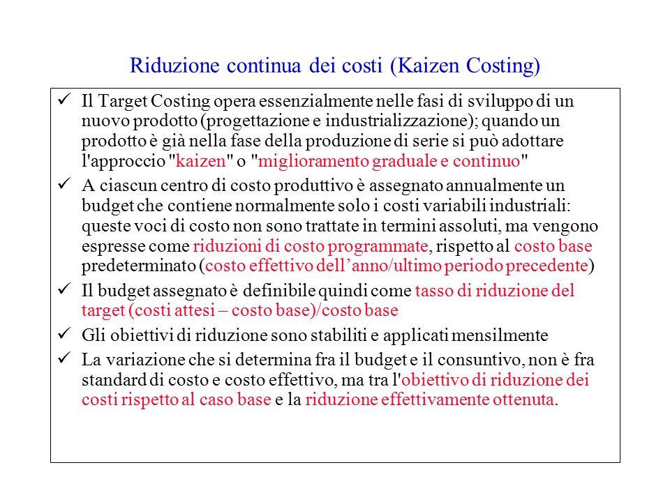 Riduzione continua dei costi (Kaizen Costing)