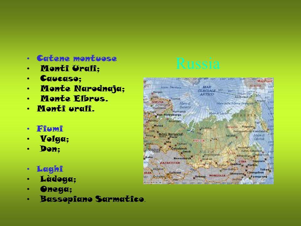 Russia Catene montuose Monti Urali; Caucaso; Monte Narodnaja;