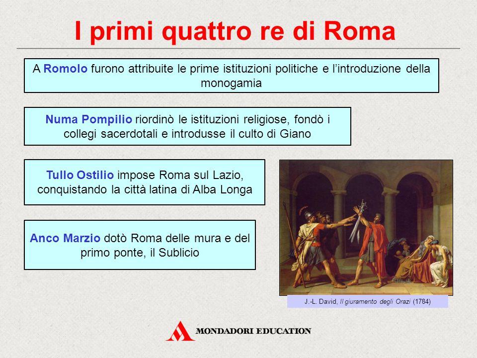 I primi quattro re di Roma