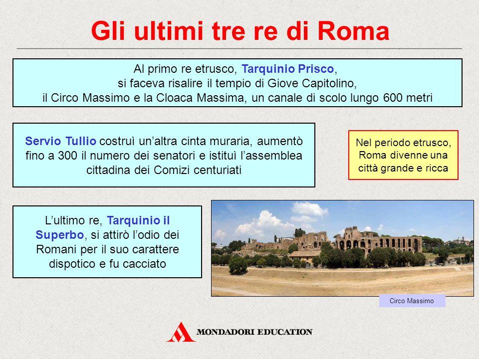 Gli ultimi tre re di Roma