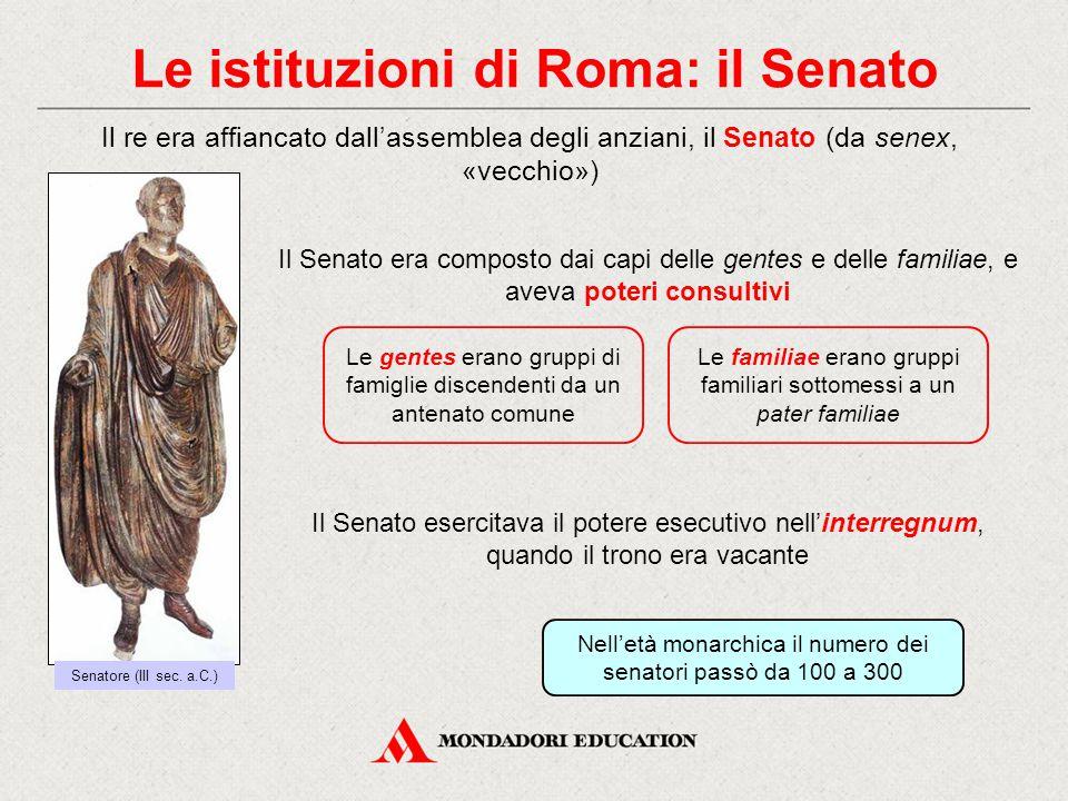 Le istituzioni di Roma: il Senato