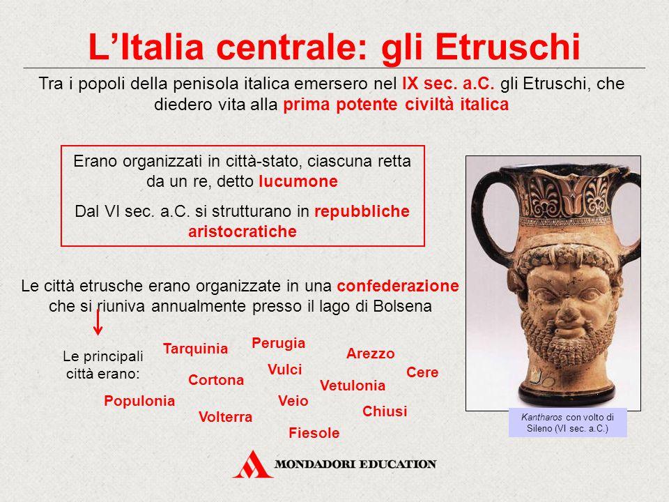 L'Italia centrale: gli Etruschi