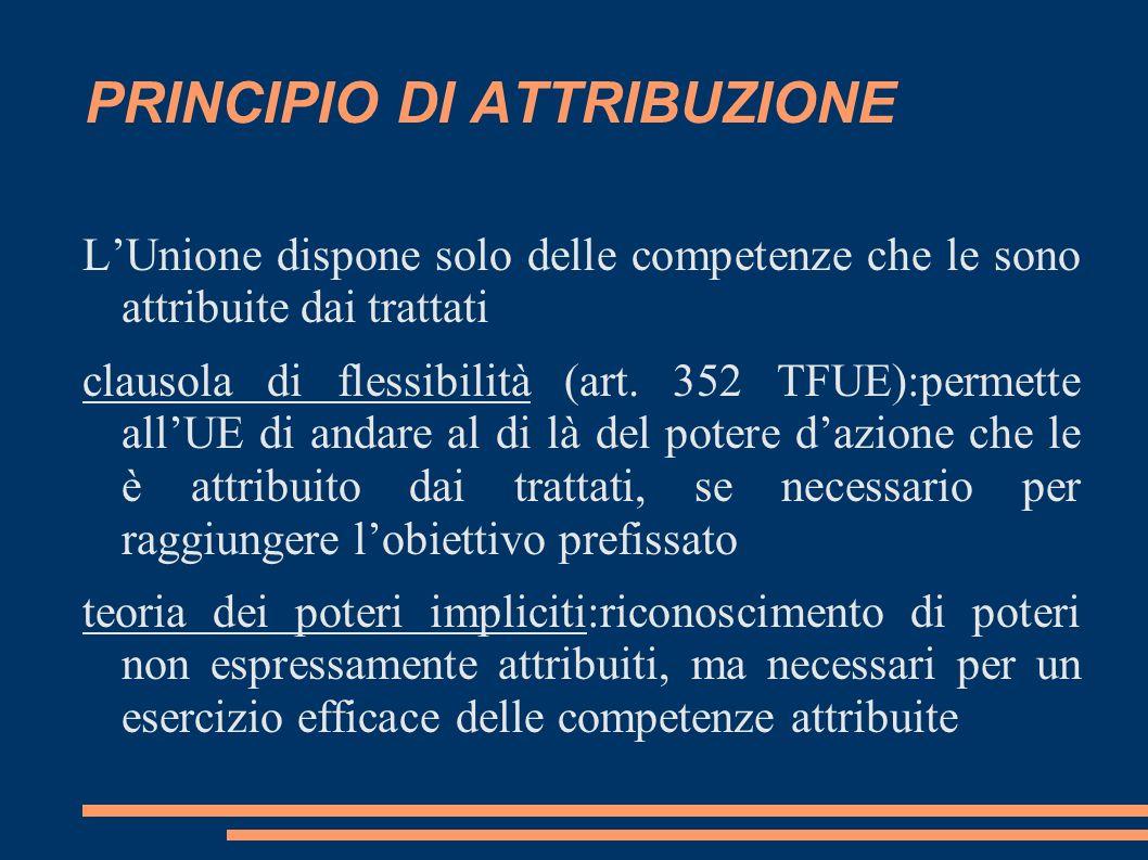 PRINCIPIO DI ATTRIBUZIONE