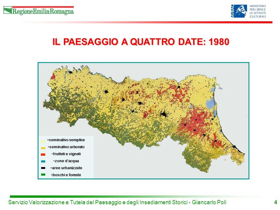 IL PAESAGGIO A QUATTRO DATE: 1980