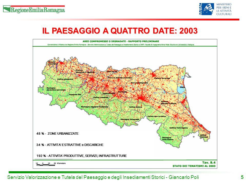 IL PAESAGGIO A QUATTRO DATE: 2003