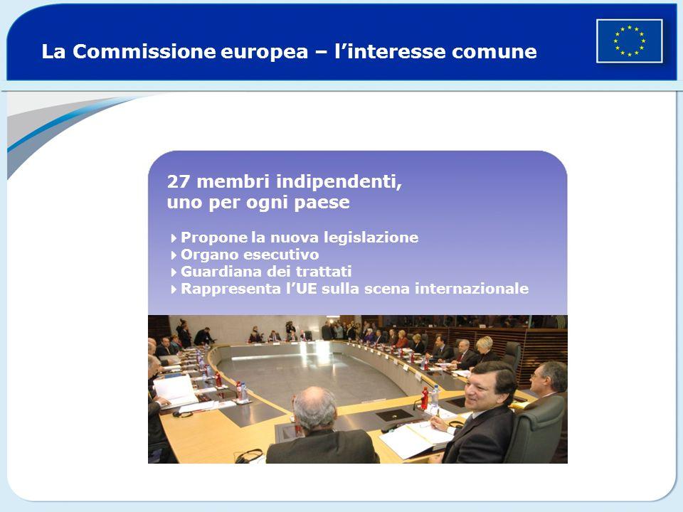 La Commissione europea – l'interesse comune
