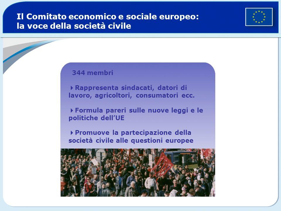 Il Comitato economico e sociale europeo: la voce della società civile