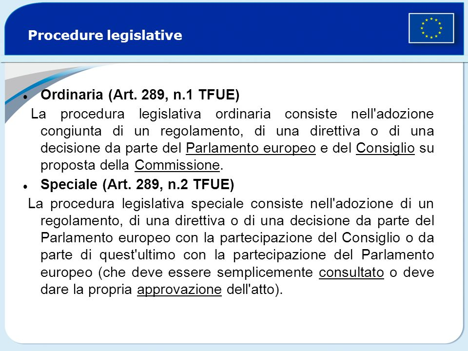 Procedure legislative