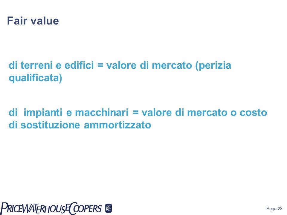 Fair value di terreni e edifici = valore di mercato (perizia qualificata)
