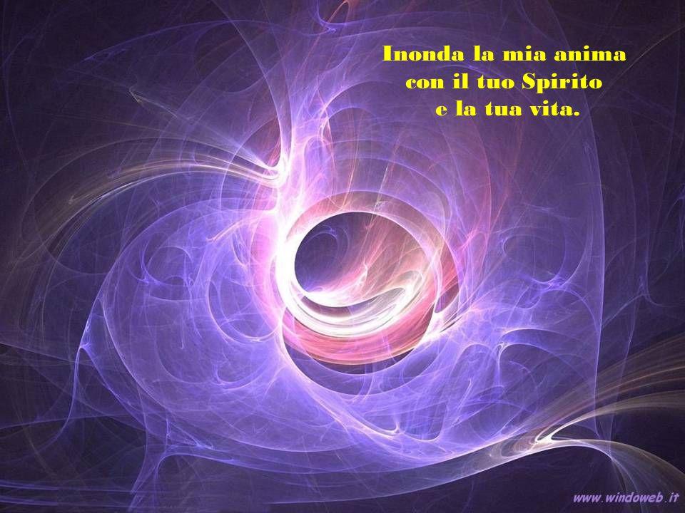 Inonda la mia anima con il tuo Spirito e la tua vita.