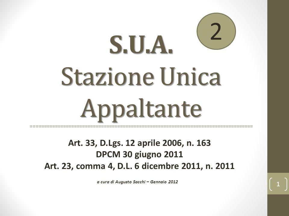 a cura di Augusto Sacchi – Gennaio 2012