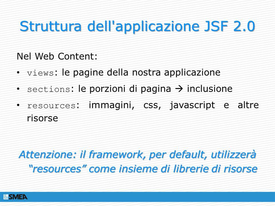 Struttura dell applicazione JSF 2.0