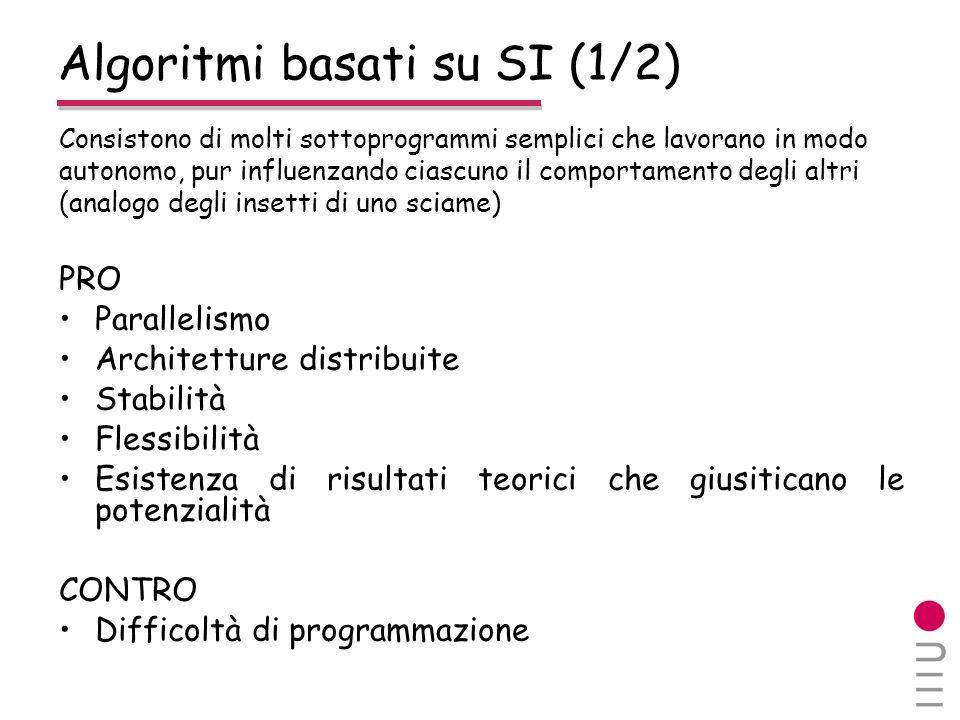 Algoritmi basati su SI (1/2)