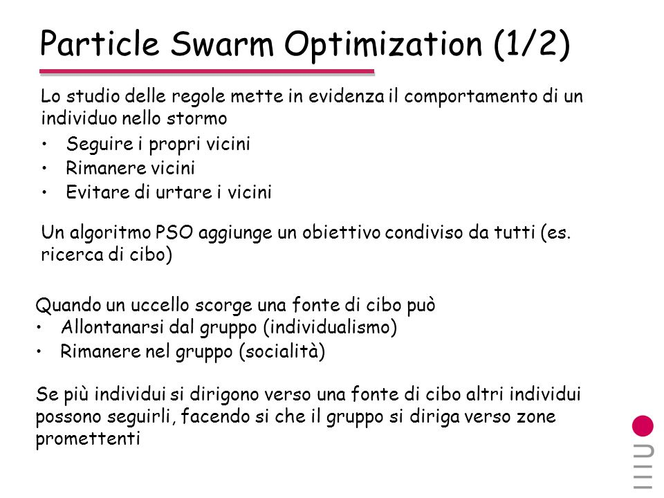 Particle Swarm Optimization (1/2)