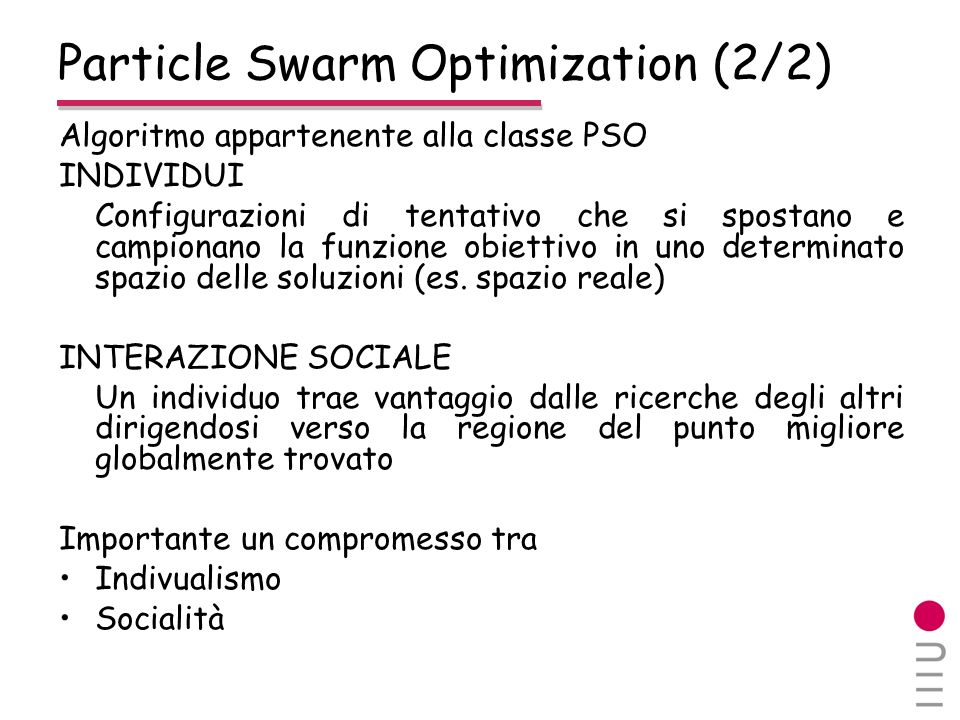 Particle Swarm Optimization (2/2)