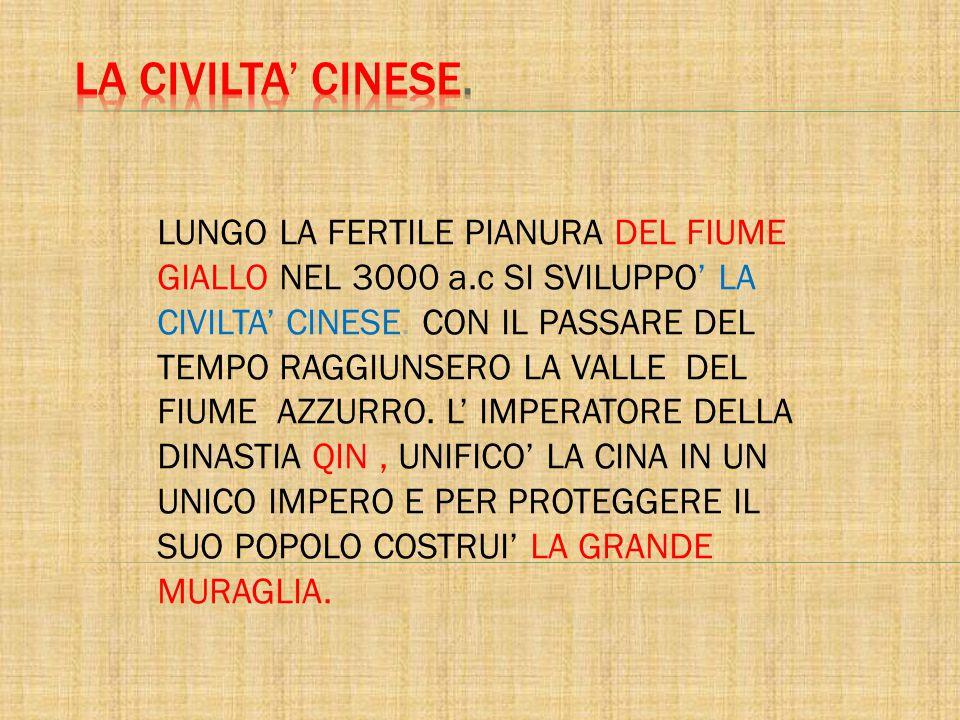 LA CIVILTA' CINESE.