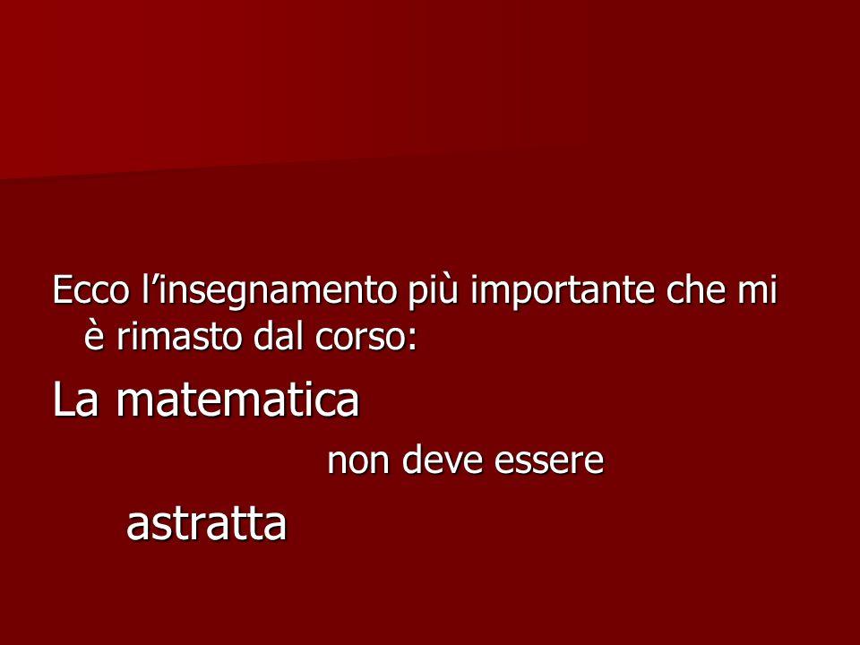 La matematica astratta