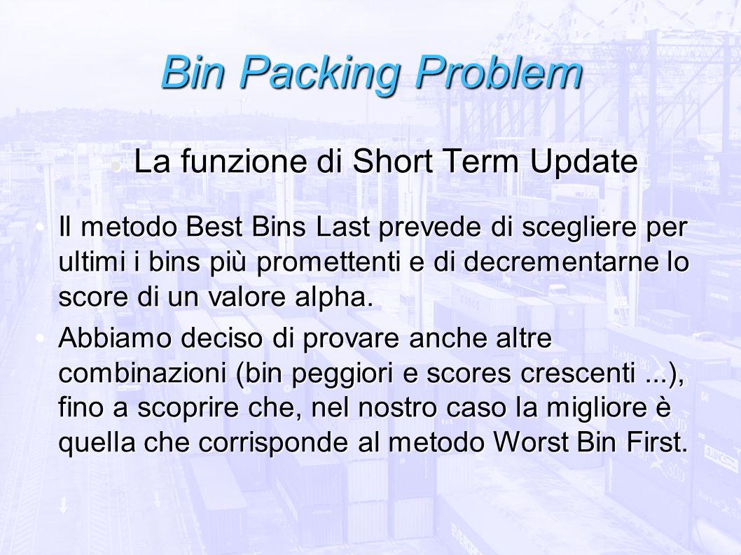 La funzione di Short Term Update