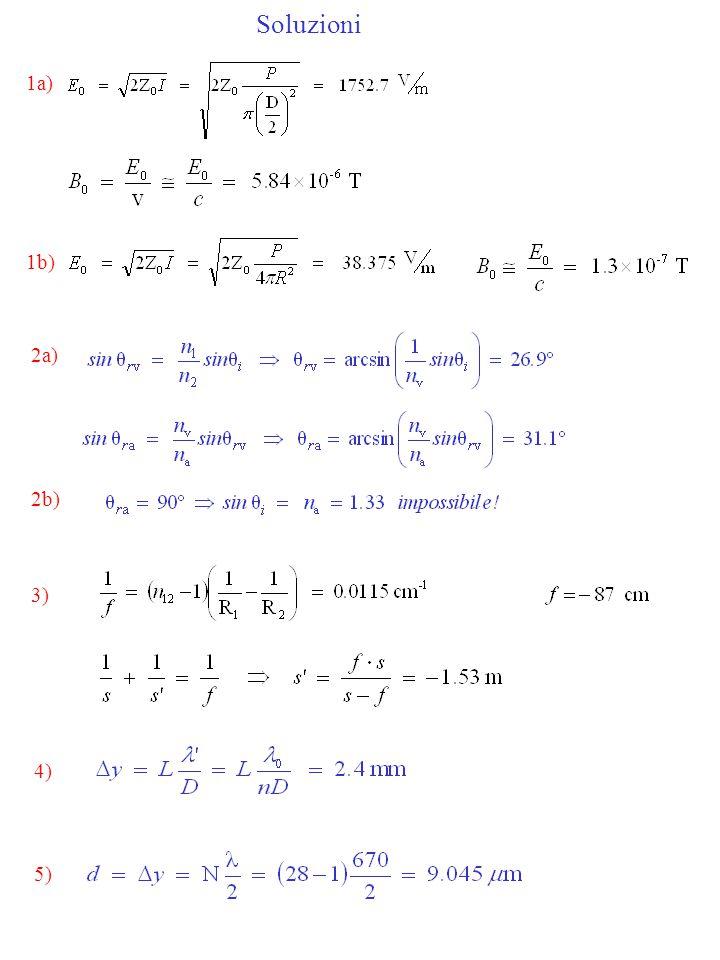 Soluzioni 1a) 1b) 2a) 2b) 3) 4) 5)