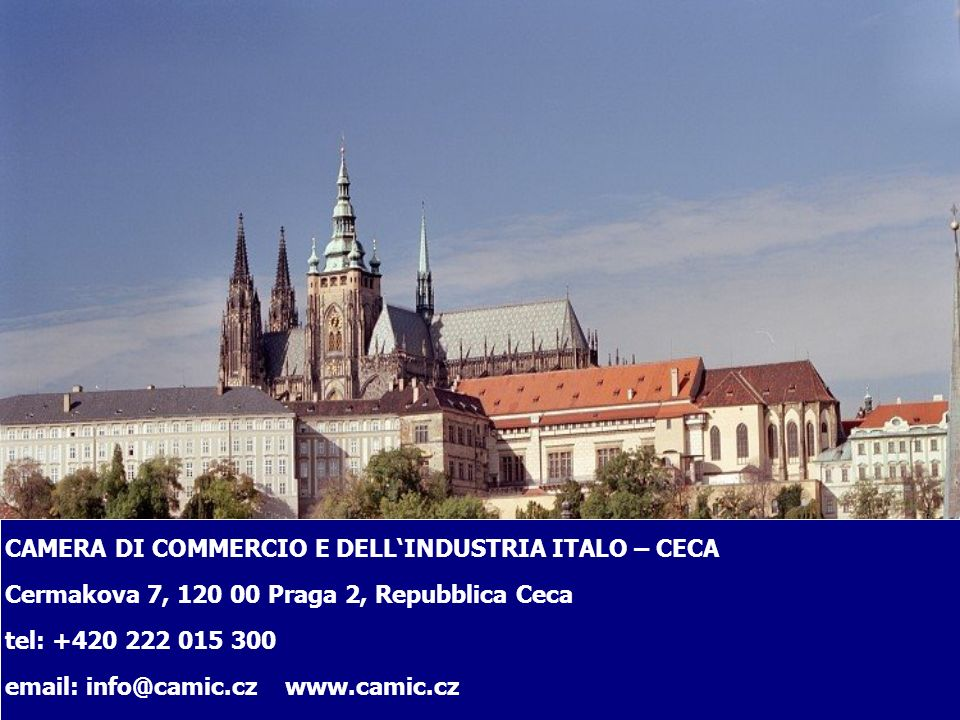 CAMERA DI COMMERCIO E DELL'INDUSTRIA ITALO – CECA