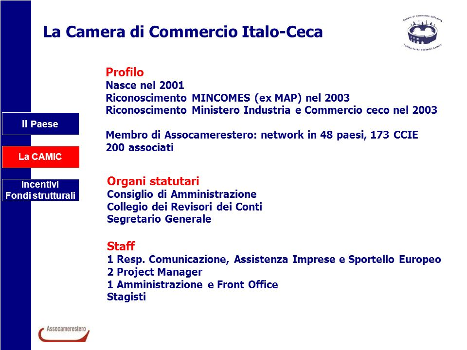 La Camera di Commercio Italo-Ceca