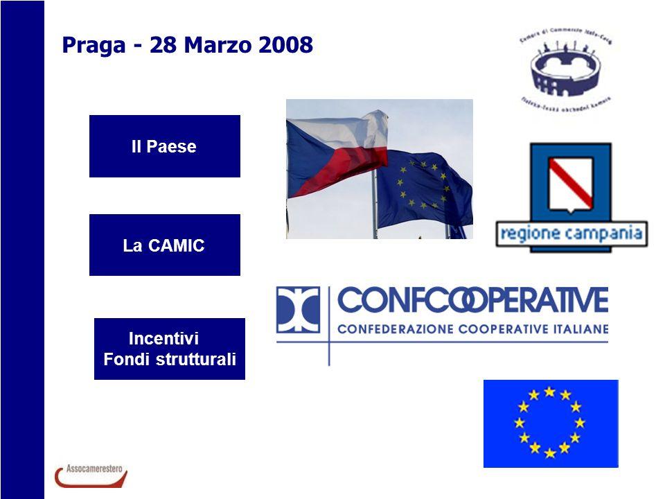 Praga - 28 Marzo 2008 Il Paese La CAMIC Incentivi Fondi strutturali