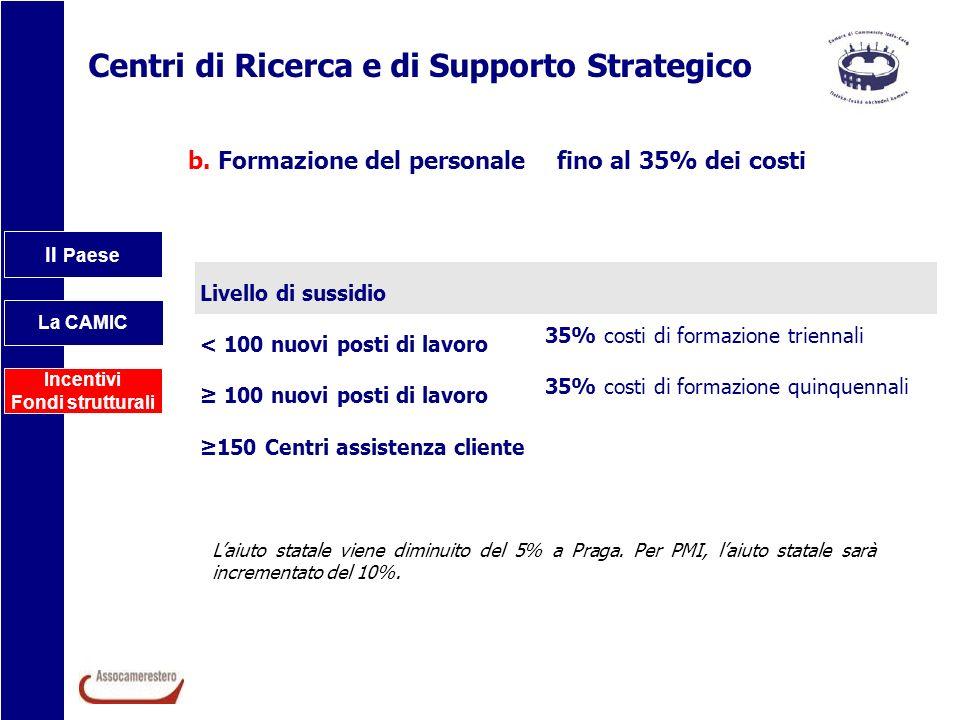 Centri di Ricerca e di Supporto Strategico