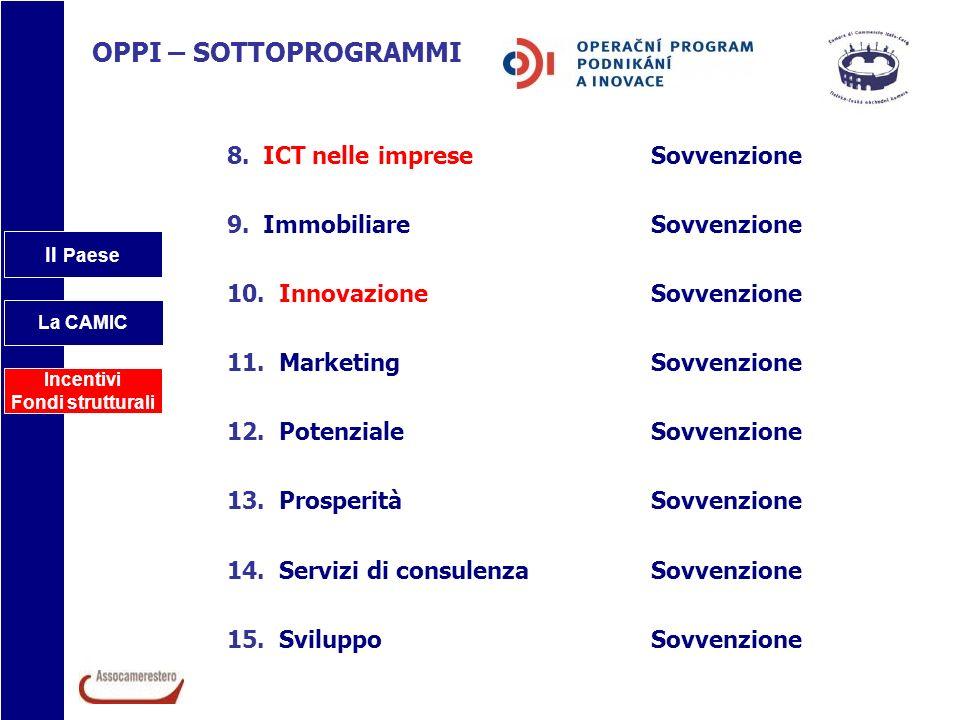 OPPI – SOTTOPROGRAMMI ICT nelle imprese Sovvenzione
