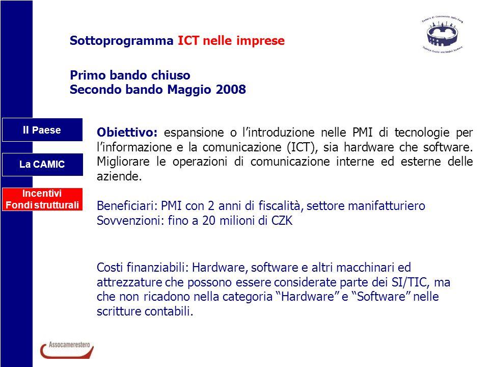 Sottoprogramma ICT nelle imprese
