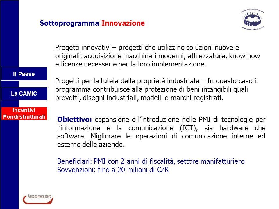 Sottoprogramma Innovazione