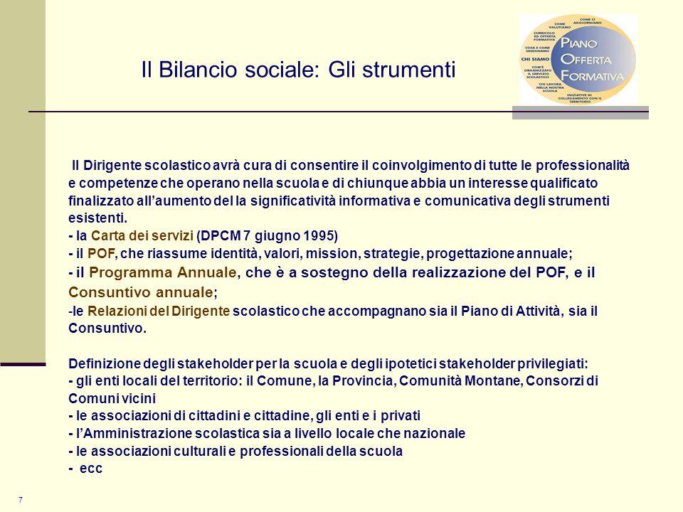 Il Bilancio sociale: Gli strumenti