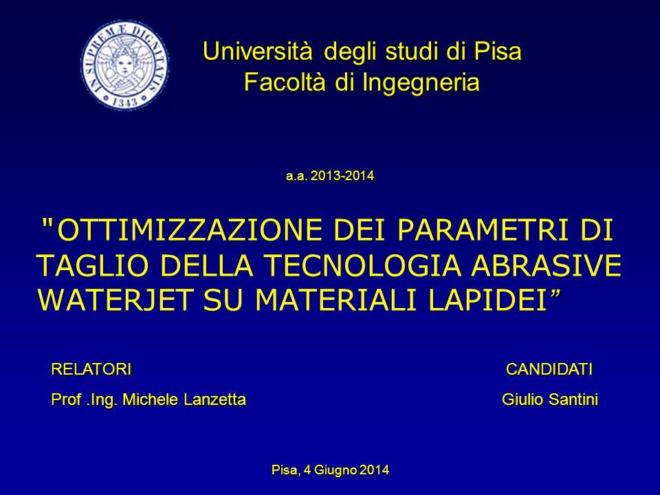 Università degli studi di Pisa Facoltà di Ingegneria