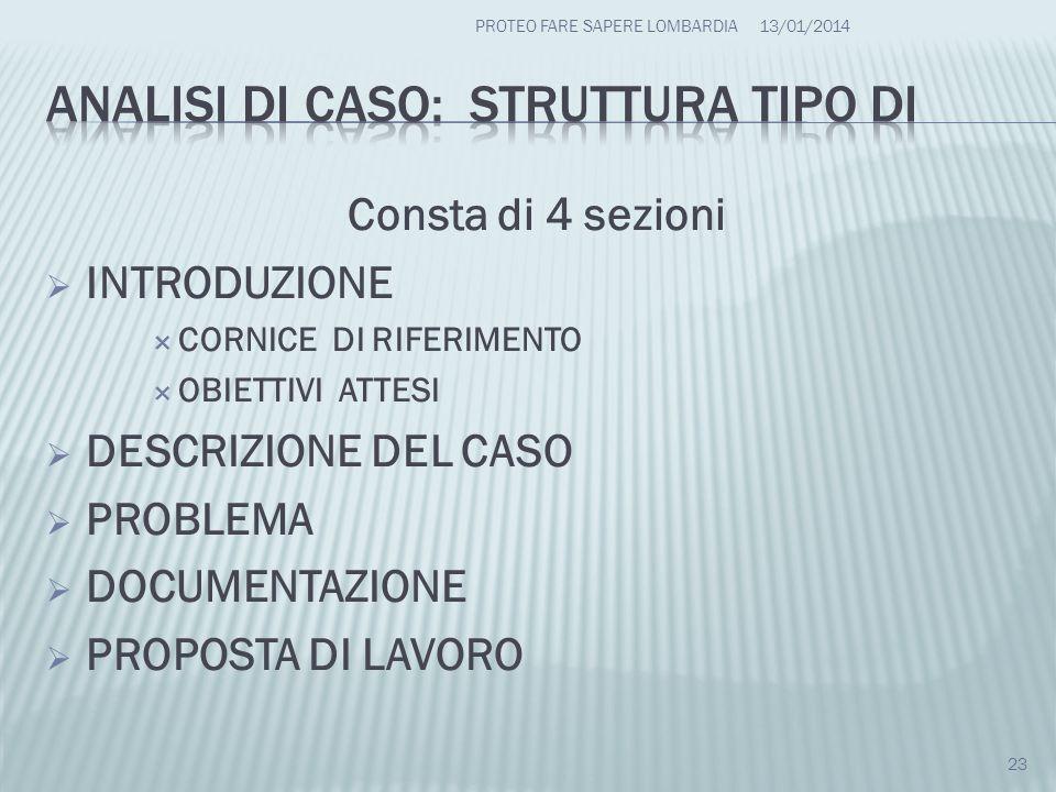 ANALISI DI CASO: struttura tipo DI