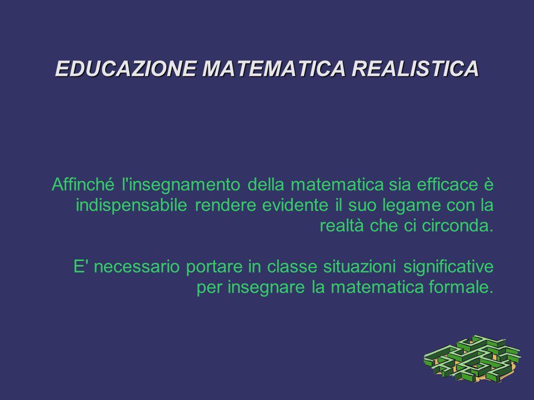 EDUCAZIONE MATEMATICA REALISTICA